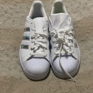 adidas Shoes - Nwot adidas SUPERSTAR SHOES holographic